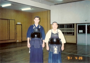 With Fujiwara Sensei